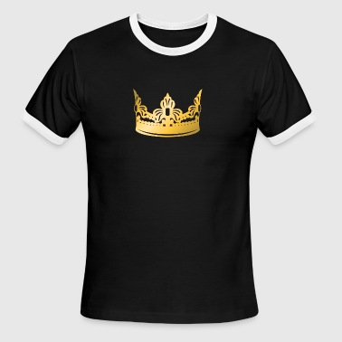king-vip-golden-crown-roya-gold-boss-logo-vector - Men's Ringer T-Shirt