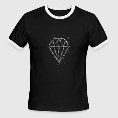 Drawing of a diamond - Men's Ringer T-Shirt