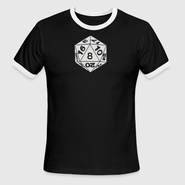 20 Sided Die - Men's Ringer T-Shirt