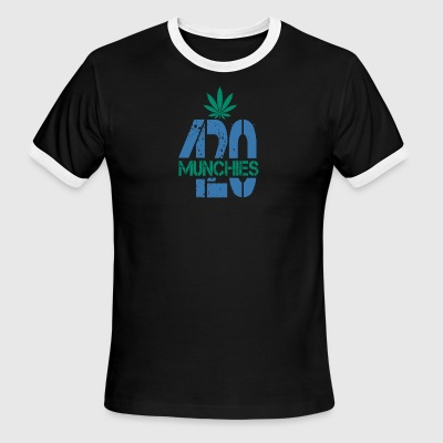 420 Munchies Weed leaf - Men's Ringer T-Shirt
