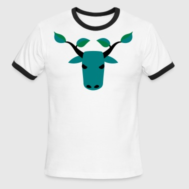 reindeer environmentalist leaves  - Men's Ringer T-Shirt