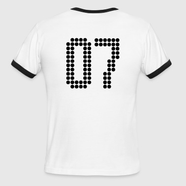 07, Numbers, Football Numbers, Jersey Numbers - Men's Ringer T-Shirt
