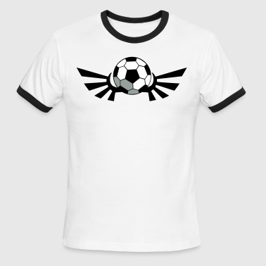 SOCCER BALL football with AIRFORCE wings - Men's Ringer T-Shirt