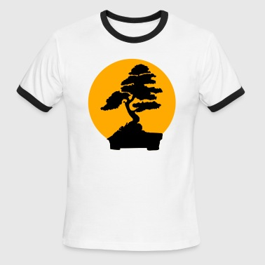 Karate Kid bonsai tree (2 color flex) - Men's Ringer T-Shirt