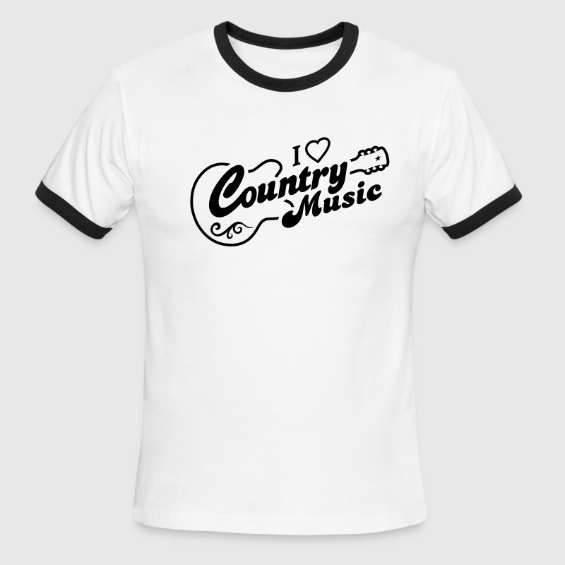 I LOVE COUNTRY MUSIC - Men's Ringer T-Shirt