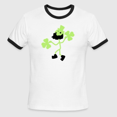 Irish man hold shamrock - Men's Ringer T-Shirt