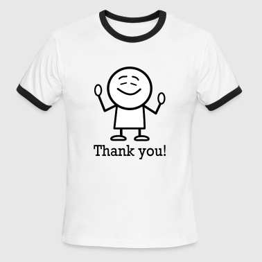 thank you - Men's Ringer T-Shirt