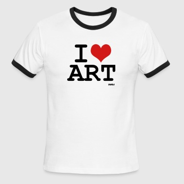 i love art by wam - Men's Ringer T-Shirt