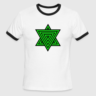 star triangle with patterning - Men's Ringer T-Shirt