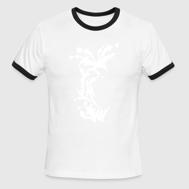 Graffiti Arrows Design - Men's Ringer T-Shirt