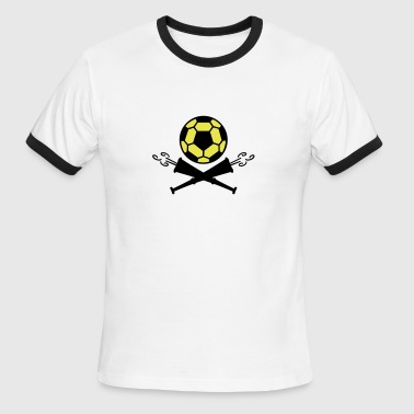 soccer vuvuzela pirates (2c) - Men's Ringer T-Shirt