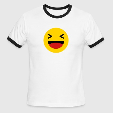 Haha funny emoticon Facebook - Men's Ringer T-Shirt