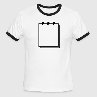 Notebook (use writable flex) - Men's Ringer T-Shirt