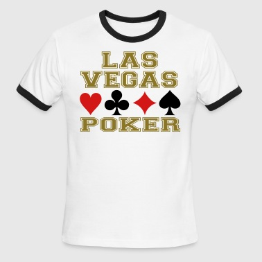 Las Vegas poker cards - Men's Ringer T-Shirt