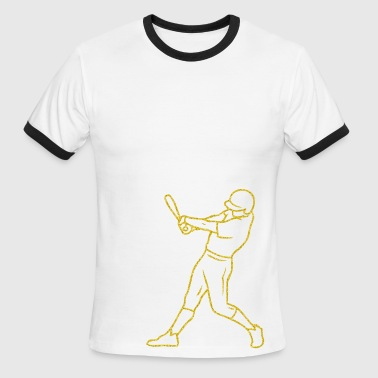 baseball hitter - Men's Ringer T-Shirt