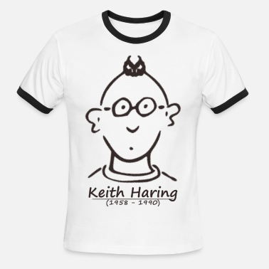 T-keith-haring KH 1958 1990 - Men's Ringer T-Shirt