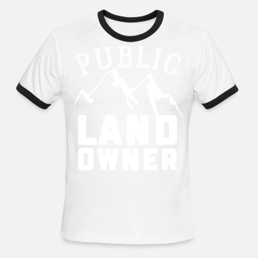 Public Agent Public Land Owner Sarcasm Humorous Property Design - Men's Ringer T-Shirt