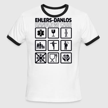 EDS AWARENESS – Handle With Care - Men's Ringer T-Shirt