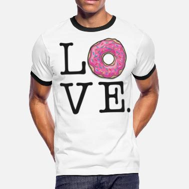 149018fa11f64 Donut love Funny Food - Men's Ringer T-Shirt