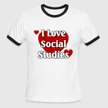 Social Studies Teacher I love social studies - Men's Ringer T-Shirt