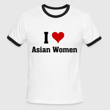 I Love Asian Girl I love asian women - Men's Ringer T-Shirt