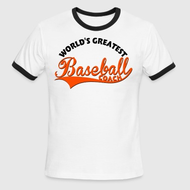 World's greatest Baseball Coach - Men's Ringer T-Shirt