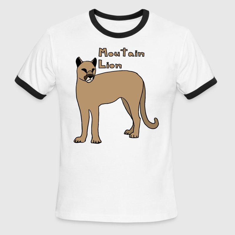 mountain lion - Men's Ringer T-Shirt