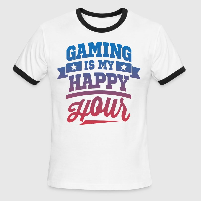 Gaming Is My Happy Hour - Men's Ringer T-Shirt