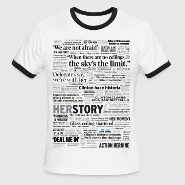 Hillary 2016 Nomination Headline Collage - Men's Ringer T-Shirt
