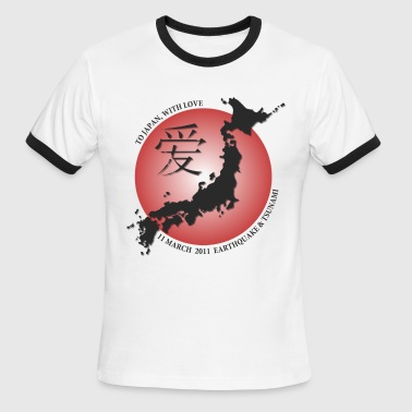 Help Japan To Japan With Love - Men's Ringer T-Shirt