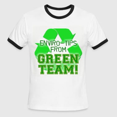 Green Team Green Team Enviro Tips - Men's Ringer T-Shirt