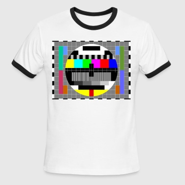 TV Test pattern - Men's Ringer T-Shirt