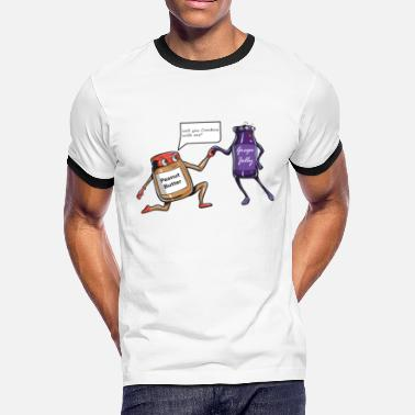 Marriage Proposal Peanut Butter and Jelly - Men's Ringer T-Shirt