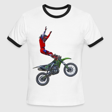 Aerial Foot Grab Art - Men's Ringer T-Shirt