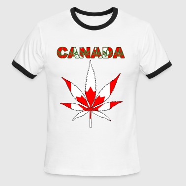 HEMP LEAF FLAG - Men's Ringer T-Shirt