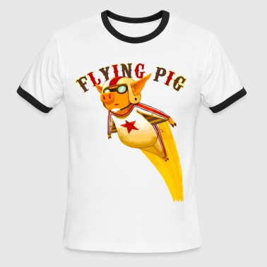 flying pig - Men's Ringer T-Shirt
