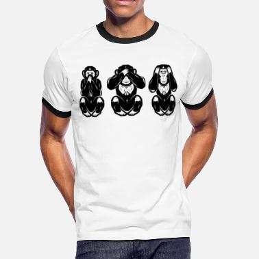 Evil See No Evil Hear No Evil Speak No Evil - Men's Ringer T-Shirt