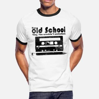Retro Old School Thing Cassette Retro 80s - Men's Ringer T-Shirt