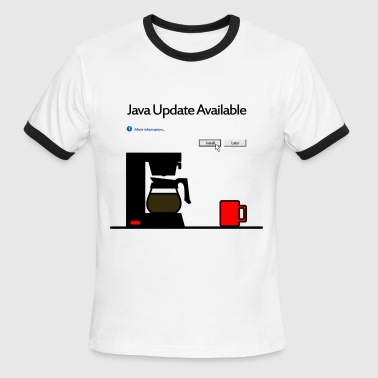 Java Update Available - Men's Ringer T-Shirt