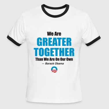 Greater Together 2 - Men's Ringer T-Shirt