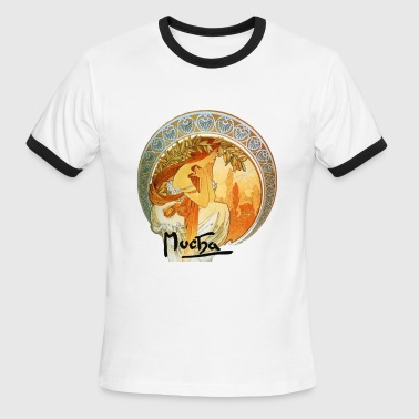 alphonse_mucha__poetry - Men's Ringer T-Shirt