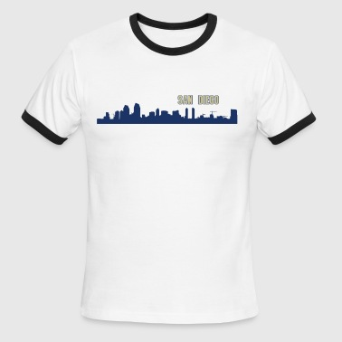 San Diego Skyline - Men's Ringer T-Shirt