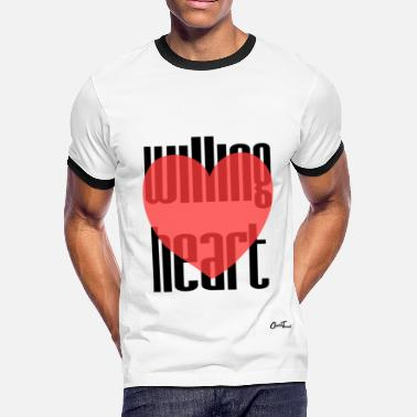 Willing Willing heart - Men's Ringer T-Shirt