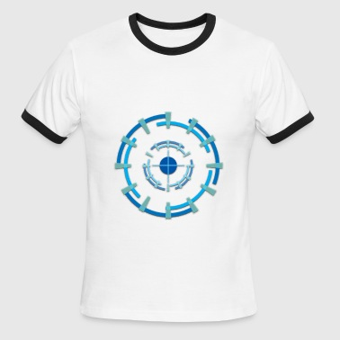 geometry-target2 - Men's Ringer T-Shirt