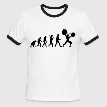 Evolution  - Weightlifter - Men's Ringer T-Shirt