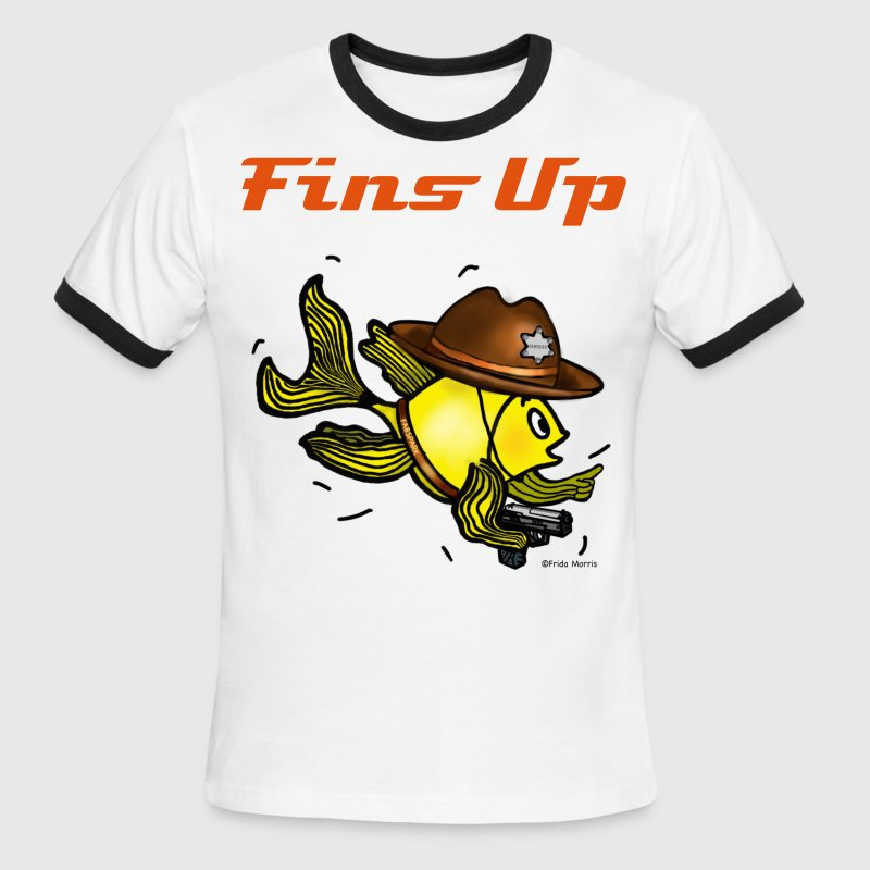 Sheriff Fish Fabspark Sparky, clear image  - Men's Ringer T-Shirt