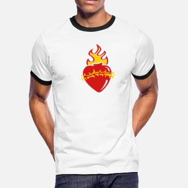 The Sacred Heart - Men's Ringer T-Shirt