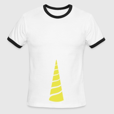 single unicorn horn triangle up - Men's Ringer T-Shirt