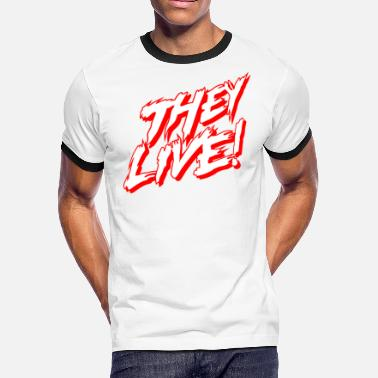 Flick They Live Stacked (AA Ringer) - Men's Ringer T-Shirt