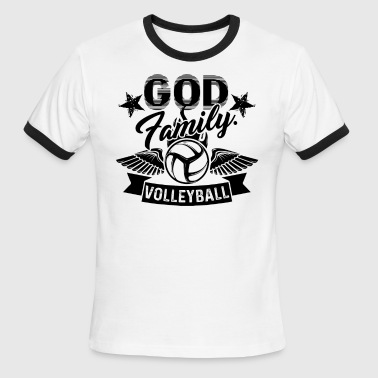 Volleyball Family God Family Volleyball Shirt - Men's Ringer T-Shirt